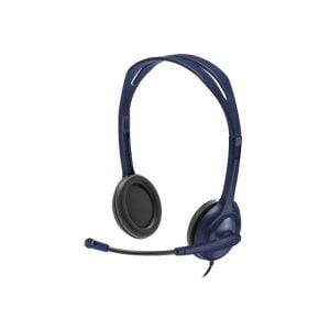 """אוזניות Logitech Wired עם מיקרופון בחיבור 3.5 מ""""מ PL"""