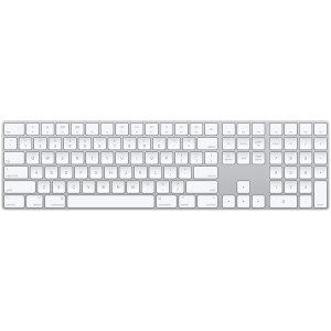 מקלדת אלחוטית Apple Magic Keyboard with Numeric Keypad בצבע כסוף