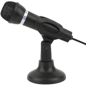 """מיקרופון שולחני רגישות גבוהה הכולל כפתור כיבוי והפעלה בחיבור 3.5 מ""""מ PL עם כבל באורך 1.8 מטר"""