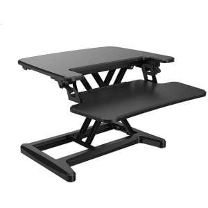"""שולחן עמדת מחשב ארגונומית מתכוונן ישיבה/עמידה 90 ס""""מ LOCTEK"""