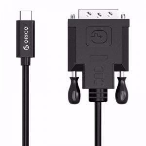 כבל מחיבור USB Type-C לחיבור DVI באורך כ- 2 מטרים ORICO