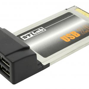 כרטיס הרחבה לנייד ST-Lab C-112 | PCMCIA USB2.0 4P