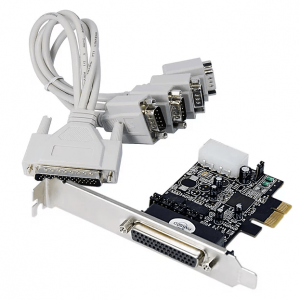 כרטיס הרחבה STLAB CP-130 | PCIE POS 4S Serial Card