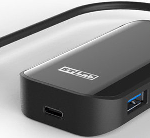 מפצל 3 יציאות USB3.0 ויציאה אחת USB3.0-C בחיבור STLAB U-1480 | USB-C