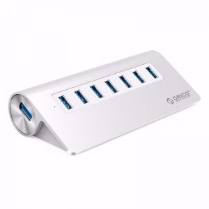 רכזת 7 כניסות USB3.0 הכוללת ספק כח