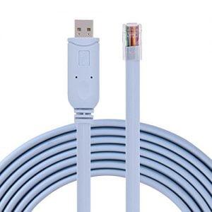 כבל קונסול מחיבור RJ45 לחיבור USB באורך 1.8 מטר