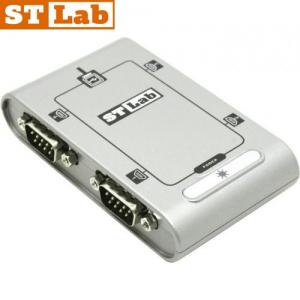 ממיר STLAB U-400 מחיבור USB לחיבור RS232 4 Port