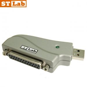מתאם STLAB U-370 מחיבור USB1.1 לחיבור Parallel DB25