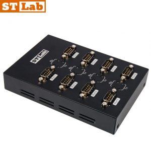 ממיר STLAB U-620 מחיבור USB2.0 לחיבור RS232 8 Port