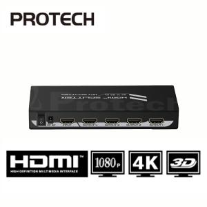 מפצל HDMI Spliter 4K 2.0V מוגבר לארבעה מסכים בו זמנית כולל תמיכה ב- 3D
