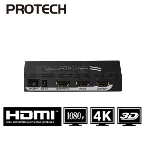מפצל HDMI Spliter 2.0V 1X8 לשני מסכים בו זמנית תומך 3D + 4KX2K