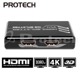 מפצל HDMI 1.4V Spliter 1X2 לשני מסכים בו זמנית  תומך 3D + 4KX2K
