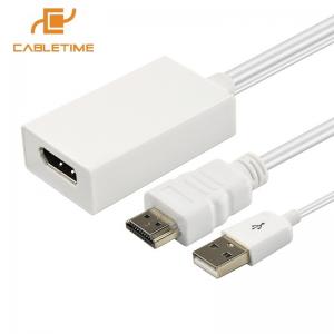 מתאם מחיבור HDMI לחיבור DisplayPort תומך 4K