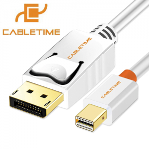כבל מחיבור Mini DisplayPort לחיבור DisplayPort תומך 4K באורך 1.8 מטר