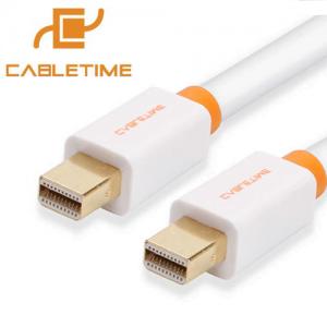 כבל Mini DisplayPort באורך 1.8 תומך Cabletime 4K