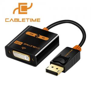 מתאם Display Port זכר לחיבור DVI נקבה CableTime