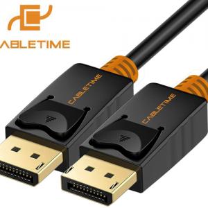 כבל DisplayPort תומך 4K באורך 10 מטר CableTime