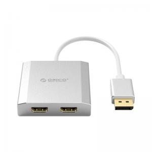 מתאם מחיבור DisplayPort ל-2 חיבורי HDMI תומך 4K
