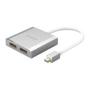 מתאם מחיבור Mini DisplayPort ל-2 חיבורי DisplayPort תומך ORICO 4K