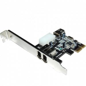 כרטיס הרחבה PCIE לשתי כניסות STLAB F-360 FireWire 6P