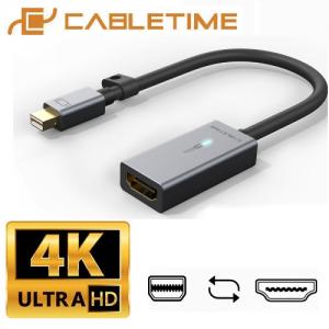 מתאם מחיבור Mini DisplayPort זכר לחיבור HDMI נקבה תומך CableTime 4K