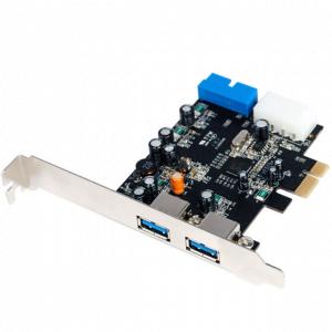 כרטיס הרחבה STLAB U-780   PCIE USB3.0 4 Port 2+2