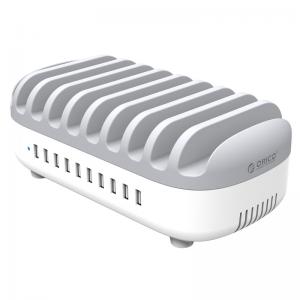 עמדת טעינה USB 10 Port 120W כולל ספק כח וחוצצים Orico DUK-10P