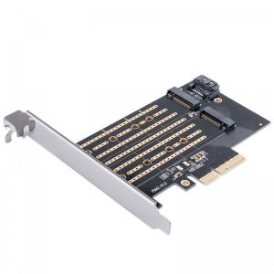 כרטיס מתאם PCIE עבור כונני M.2 SATANVME תוצרת ORICO