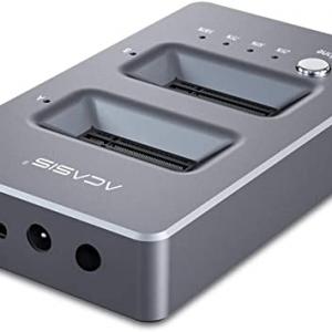תחנת עגינה עבור 2 דיסקים NVMe M.2 SSD עם פונקציית שכפול Acasis