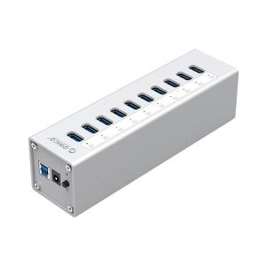 מפצל 10 כניסות USB3.0 כולל ספק כח ORICO A3H10