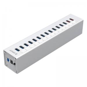 מפצל USB3.0 עם 15 כניסות כולל ספק כח ORICO A3H13P2