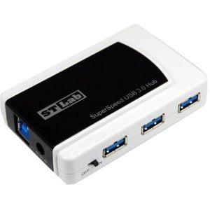 מפצל USB 3.0 הכולל 7 כניסות STLAB U-870 USB כולל ספק כח